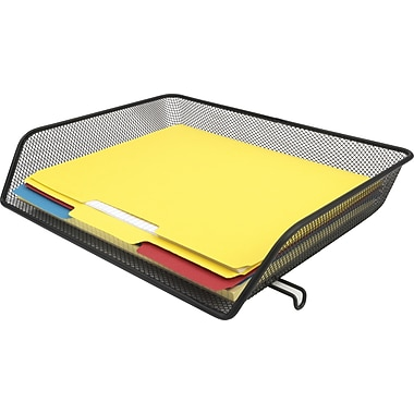 Staples Black Wire Mesh Letter Side-Load Letter Tray