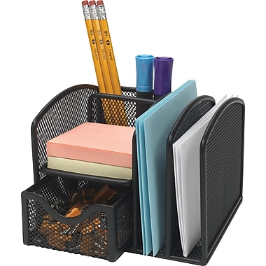 Staples Black Wire Mesh Office Manager