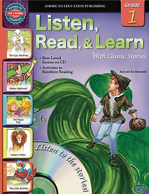 American Education Listen, Read, and Learn with Classic Stories Book with CD, Grade 1