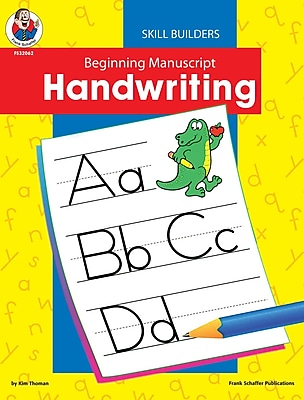 letter recognition early reading skills books staples Key Words for Resume frank schaffer beginning manuscript resource book