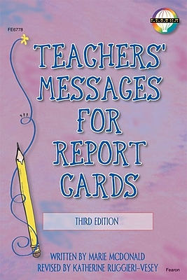 Fearon Teachers' Messages for Report Cards Resource Book