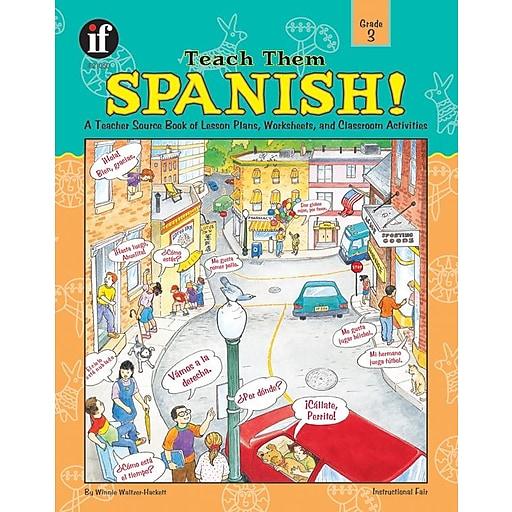 instructional fair teach them spanish resource book grade 3 staples. Black Bedroom Furniture Sets. Home Design Ideas