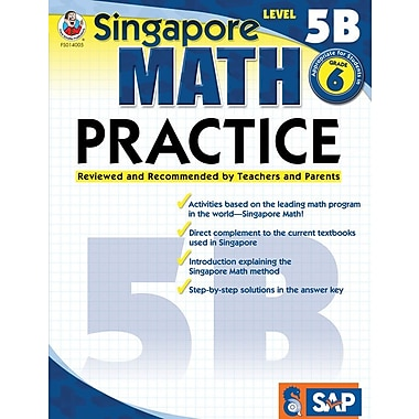 Frank Schaffer Math Practice Workbook, Level 5B, Grade 6