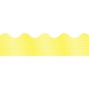 """Carson-Dellosa Publishing 108095 3' x 2.25"""" Scalloped Sparkle Borders, Yellow"""
