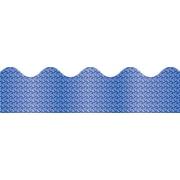 """Carson-Dellosa Publishing 108097 3' x 2.25"""" Scalloped Sparkle Borders, Blue"""