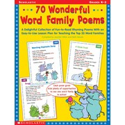 Scholastic Reading, 70 Wonderful Word Family Poems