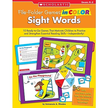 Scholastic File-Folder Games in Color: Sight Words