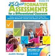 Scholastic 25 Quick Formative Assessments for a Differentiated Classroom, Grades 3-8 (SC-813516)