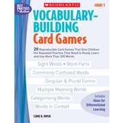 Scholastic Vocabulary-Building Card Games: Grade 2