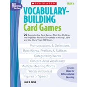 Scholastic Vocabulary-Building Card Games: Grade 6