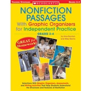 Scholastic Nonfiction Passages With Graphic Organizers for Independent Practice: Grades 2-4