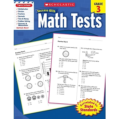 Scholastic Success with Math Tests (Grade 3)