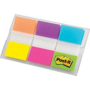 "Post-it® Flags, 1"", Electric Glow, 60-Pack"