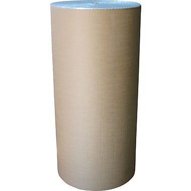 Staples® Kraft Laminated Bubble Roll, 48