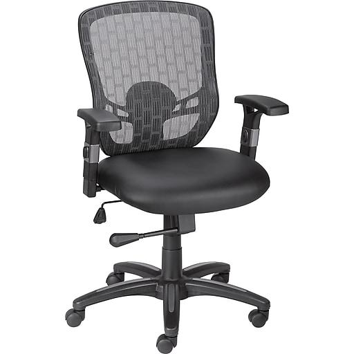 staples corvair luxura mesh back task chair black staples. Black Bedroom Furniture Sets. Home Design Ideas