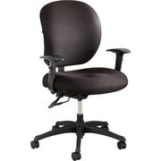 Safco Alday Fabric Executive Office Chair, Adjustable Arms, Black (3391BL)