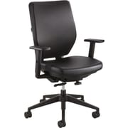 Safco Sol Fabric Executive Office Chair, Adjustable Arms, Black (7065BV)