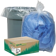 "Webster Industries® Earthsense® Clear Recycled Can Liners, 40-45 Gallons, 1.5 mil, Clear, 40"" x 46"", 100/Ct"