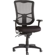 Alera EL41ME10B Elusion Fabric High-Back Executive Chair with Adjustable Arms, Black