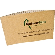 NatureHouse® Unbleached Paper Hot Cup Sleeve for 10, 12, 16 oz. Cups, Kraft, 50/Pack