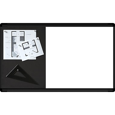 Quartet® HD Widescreen Bulletin and Dry-Erase Combination Board, Black Frame, 30