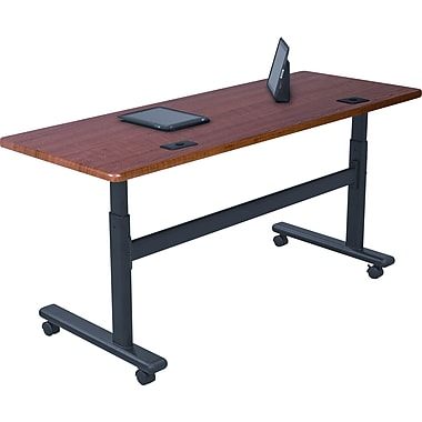 Balt 60'' Rectangular Flip Top Training Table, Cherry (90324)