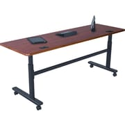 Balt 72'' Rectangular Flip Top Training Table, Cherry (90325)