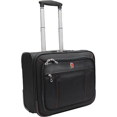 Swiss Gear - Mallette Polytex pour portatif de 15,6 po, avec roulettes, noire