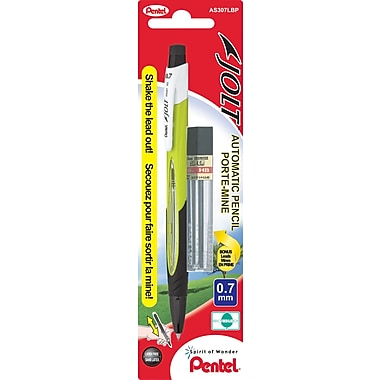 Pentel® Jolt Mechanical Pencil with Bonus Lead Refills, 0.7 mm