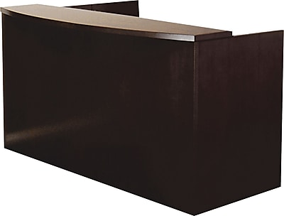 Mayline® Mira Series Wood Veneer Reception Desk Shell, 43 1/2