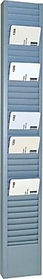 SteelMaster® 40 Pocket Steel Swipe Card/Badge Rack, 18 11/16