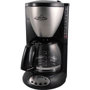 Coffee Pro® 12 Cup Euro Style Home/Office Coffee Brewer, Stainless Steel, Black
