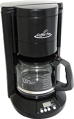Coffee Pro 12 Cup Home/Office Coffee Brewer, Black OGFCP333B