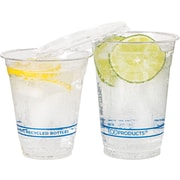 Eco-Products Recycled Content Plastic Cold Cup, 9 oz., Clear, 50/Pack