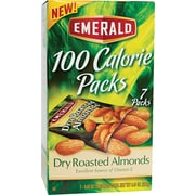 Emerald Dry Roasted Almonds, 100 Calorie Pack, 7/PK