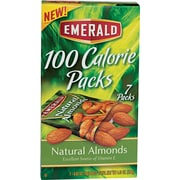 Emerald Natural Almonds, 100 Calorie Pack, 7/PK