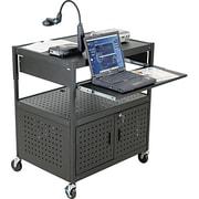 BALT® Steel Height-Adjustable FDB AV Cart, Black