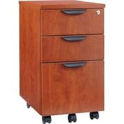 "Alera® Valencia 20 1/2""D 3 Drawer Mobile Box/Box/File Pedestal File, Medium Cherry"