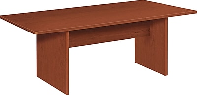HON BL Laminate Series Rectangular Conference Table, Medium Cherry
