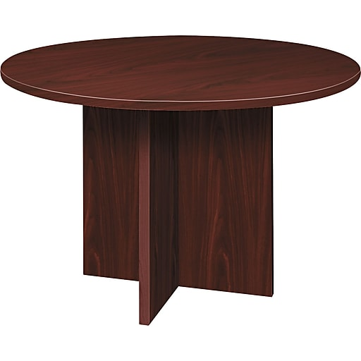 Basyx By HON Round Conference Table Mahogany HBLCDNNCOM - Hon 42 round conference table