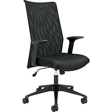 basyx® by Hon VL573 Mesh High Back Work Chair With Black Base/Frame, Black