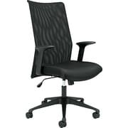 basyx® by Hon VL573 Mesh High Back Work Chair With Black Base/Frame, Black