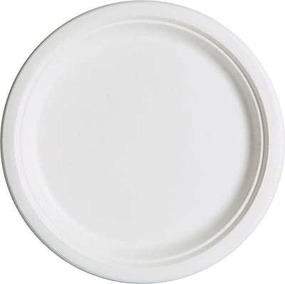 Eco-Products® Compostable Round Sugarcane Plate, 10
