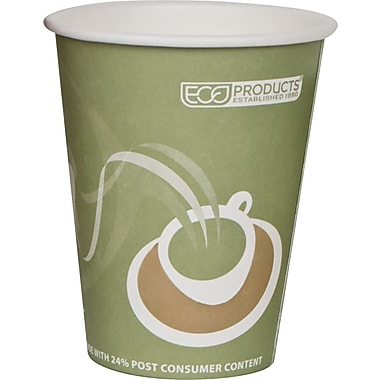 Evolution World 24% PCF Hot Drink Cups, Sea Green, 12 oz., 50/Pack