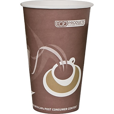 Eco-Products® Evolution World™ 24% PCF Hot Drink Cup, 16 oz., Purple, 50/Pack