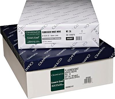 CRANES CREST® #10 Envelopes, White