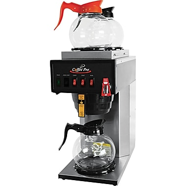 Coffee Pro® 36 Cup High-Capacity Institutional Plumbed-In Coffee Brewer, Stainless Steel