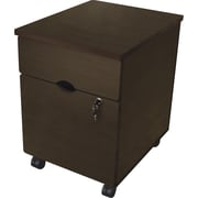 Linea Italia Trento 2 Drawer Mobile/Pedestal File, Brown,Letter/Legal, 16.5''W (LITTR735OAT)