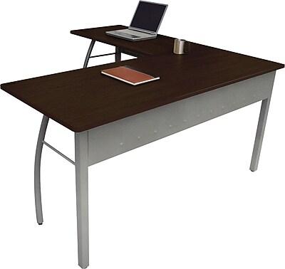 Linea Italia® Steel Base Trento Line L-Shaped Desk, 29 1/2