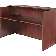 Alera®,  Valencia Series Reception Desk w/Counter, 71w x 35-1/2d x 44-3/4h, Mahogany
